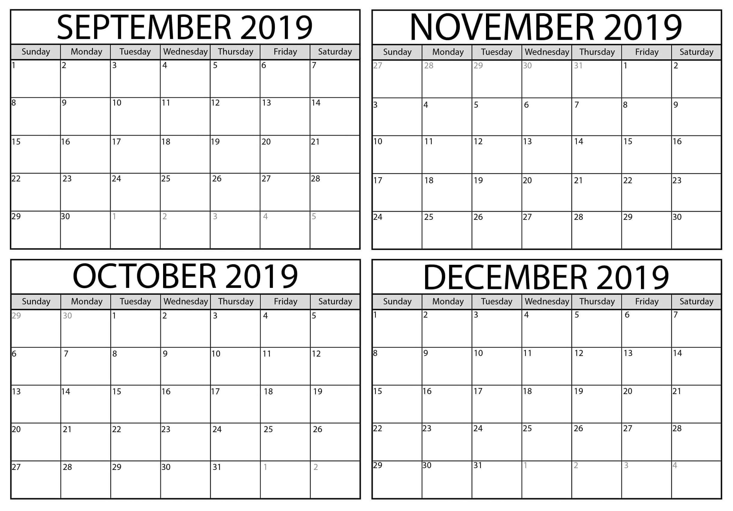 2019 Calender Template | Teekayshippingcorporation