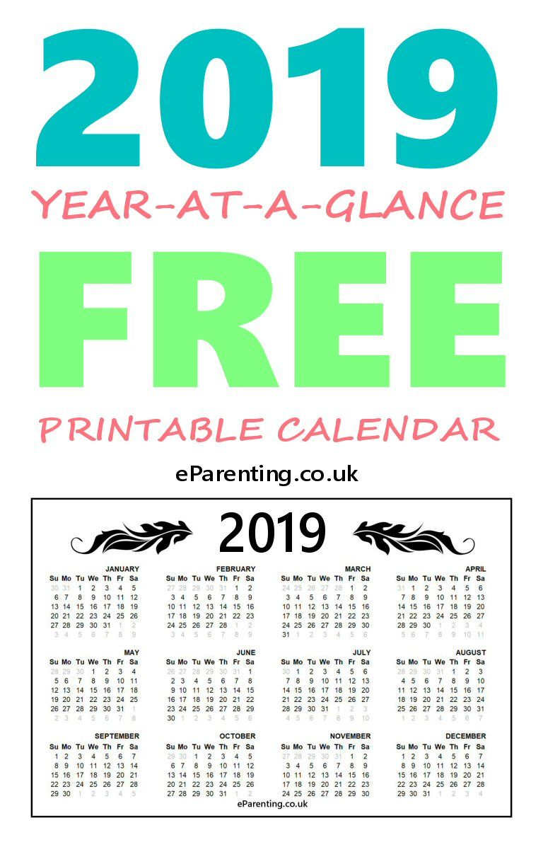 2019 Free Printable Calendar | Free Printable Calendar