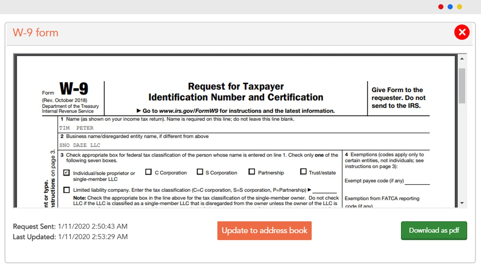 2020 Form W-9 | How To Fill Out W9 Online | Request For Tin
