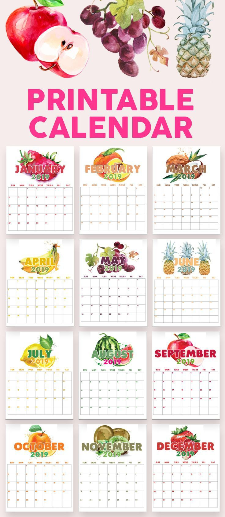 2020 Printable Calendars And Planners | Calendar, Printables