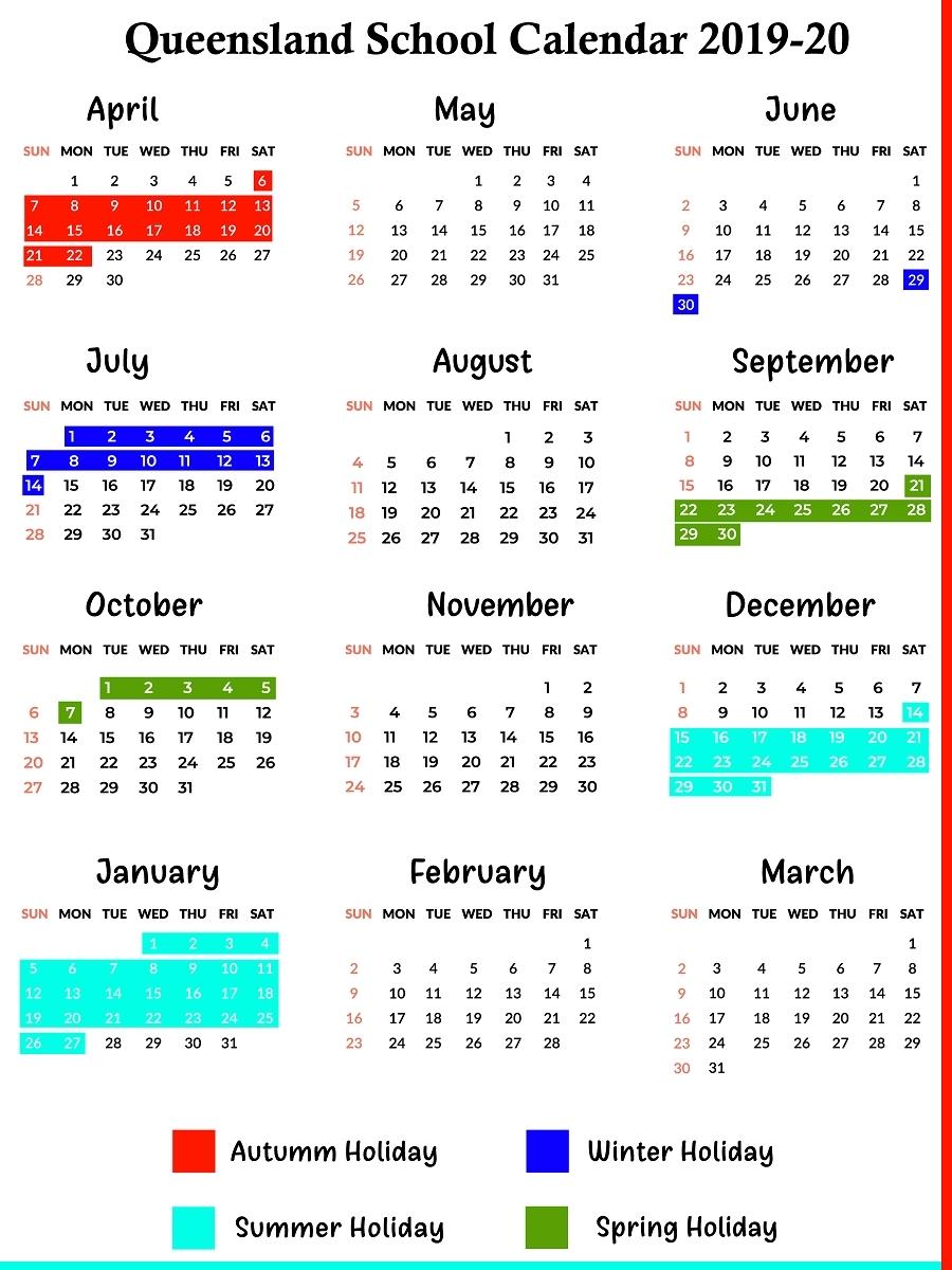 2020 Qld School Holidays Printable | Example Calendar