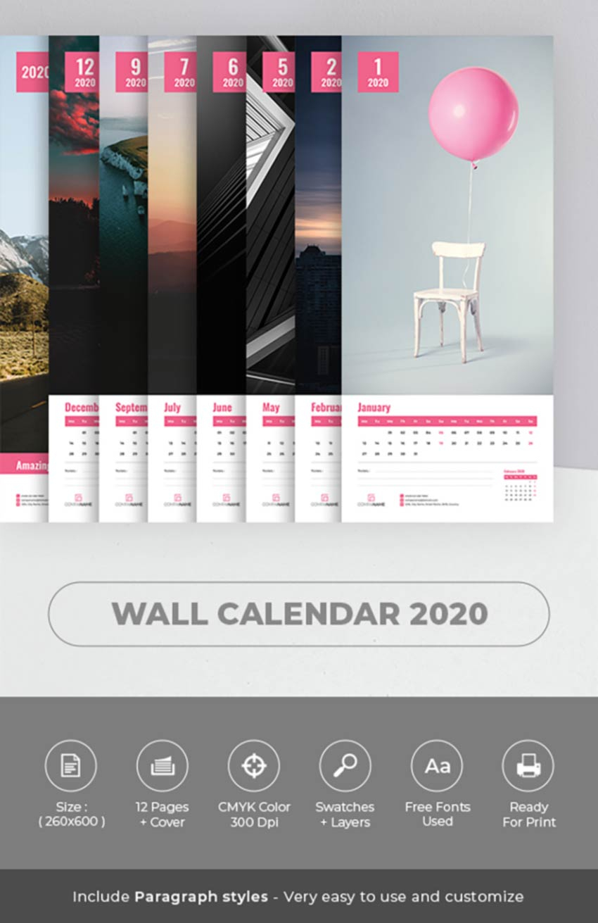 26 Best Indesign Calendar Templates (New For 2020