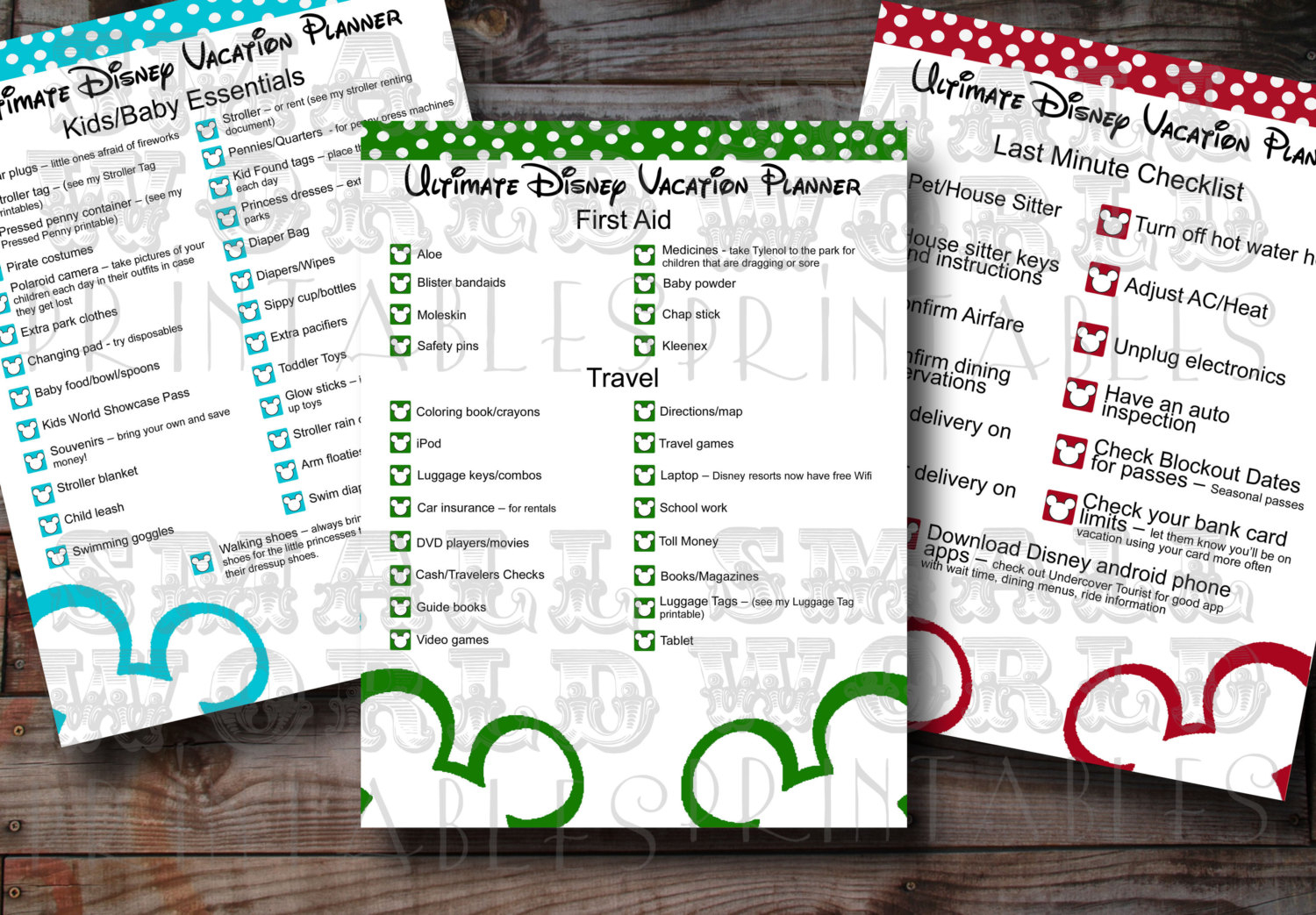 28+ [ Disney World Planner Template ] | Planning A Big