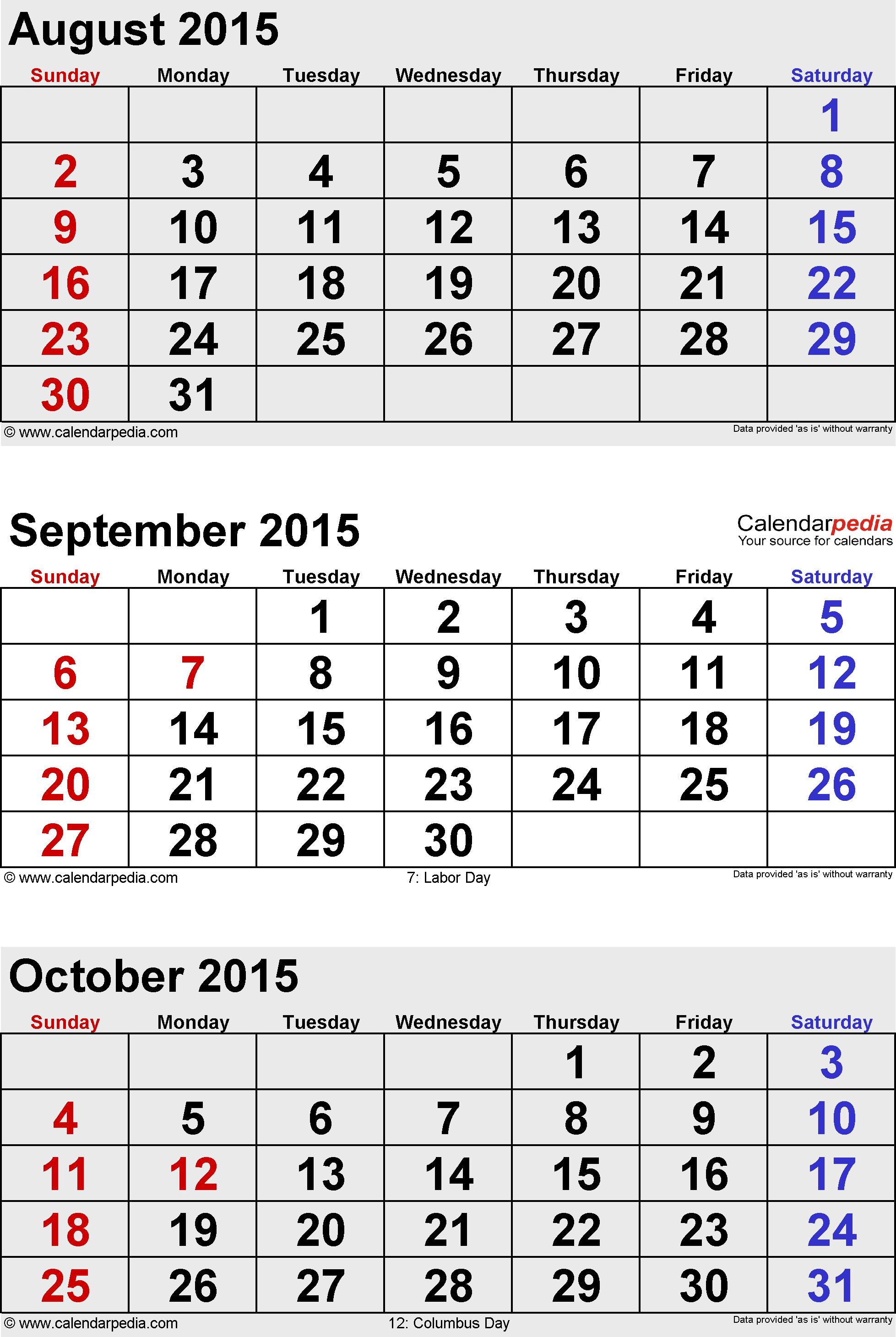 3 Month 2015 Calendar - Tunu.redmini.co