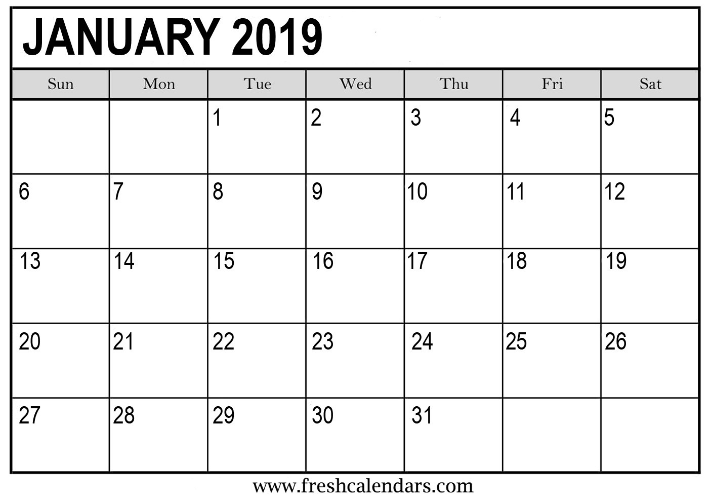 30 2019 Monthly Calendar Template | Andaluzseattle Template
