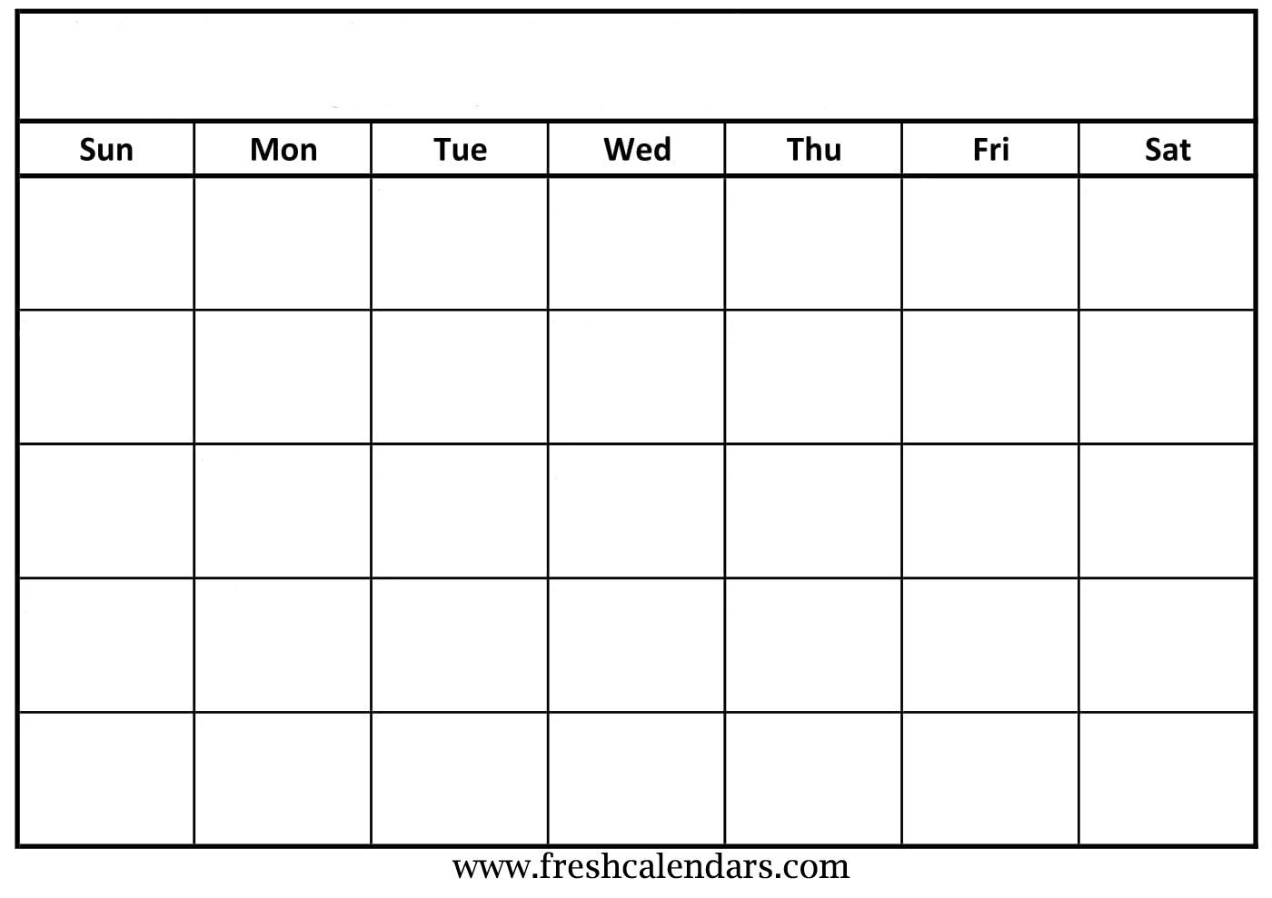 30 Blank Calendar Template 2019 | Andaluzseattle Template