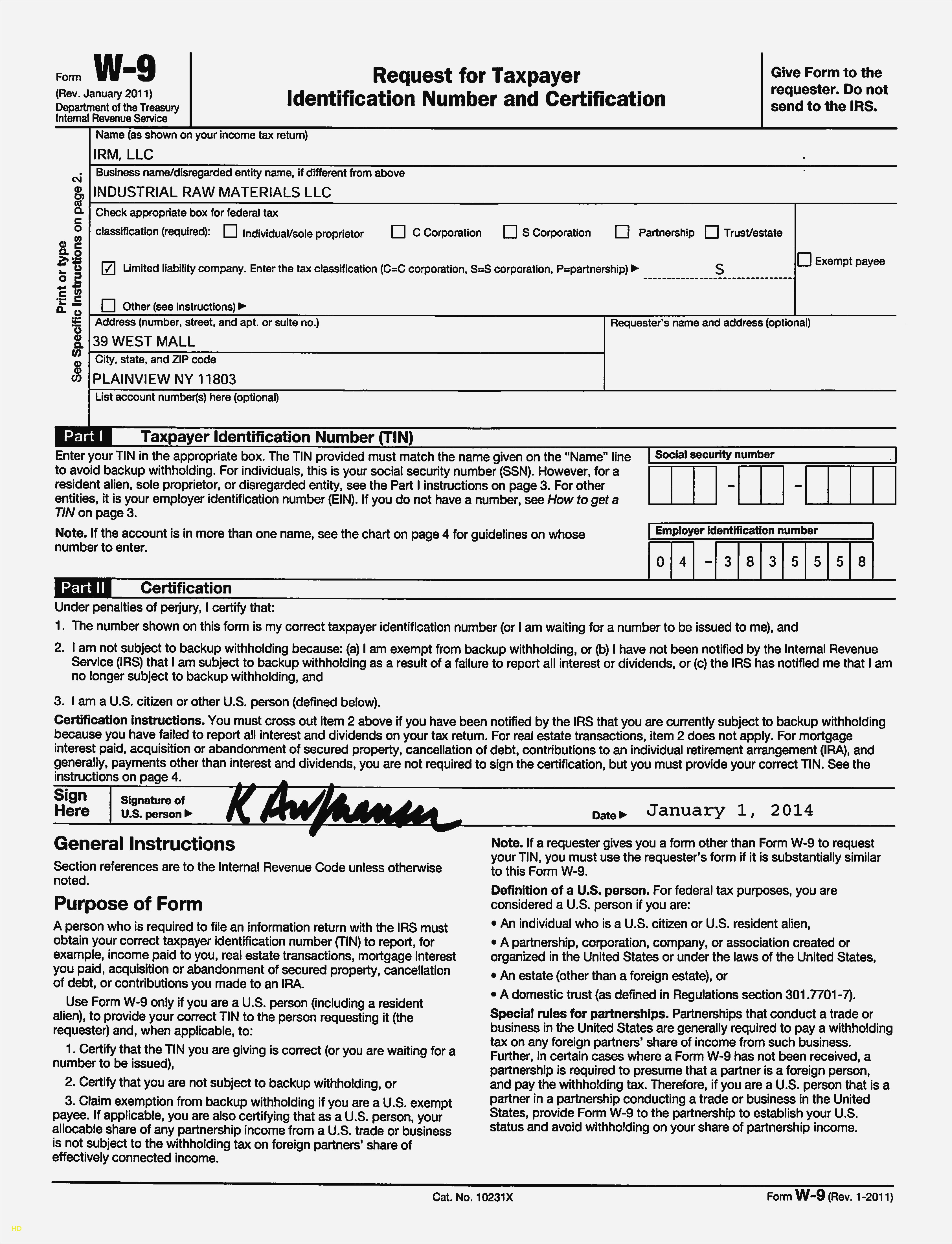 irs form w 9 download 2018