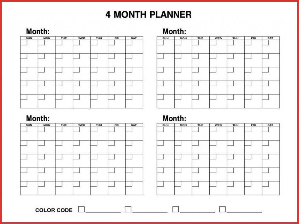 4 Month Blank Calendar - Tunu.redmini.co