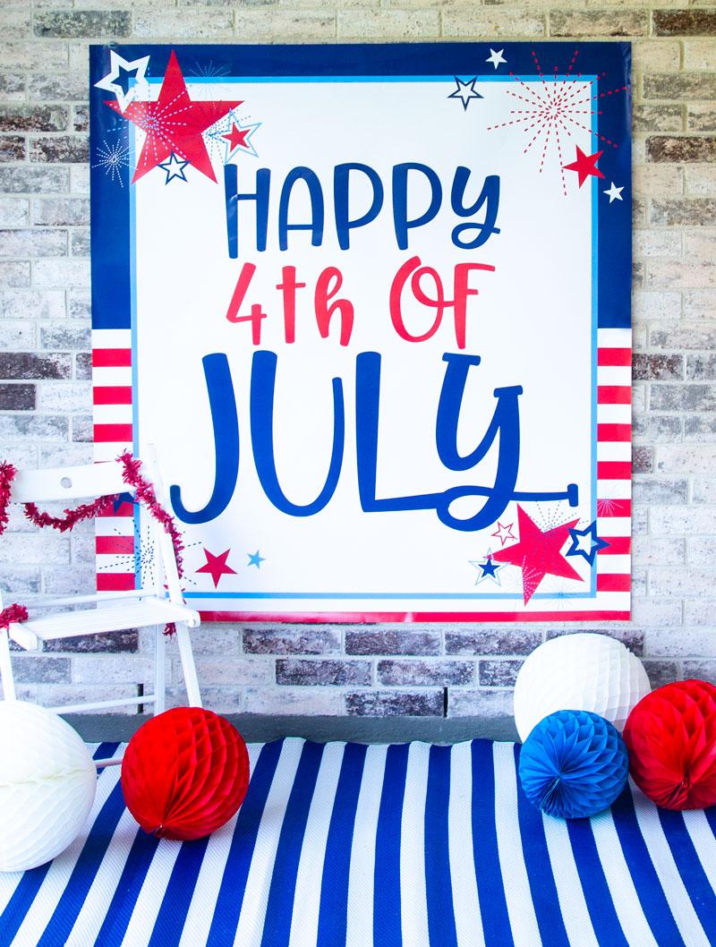 4Th Of July Backdrop Free Printablelindi Haws Of Love