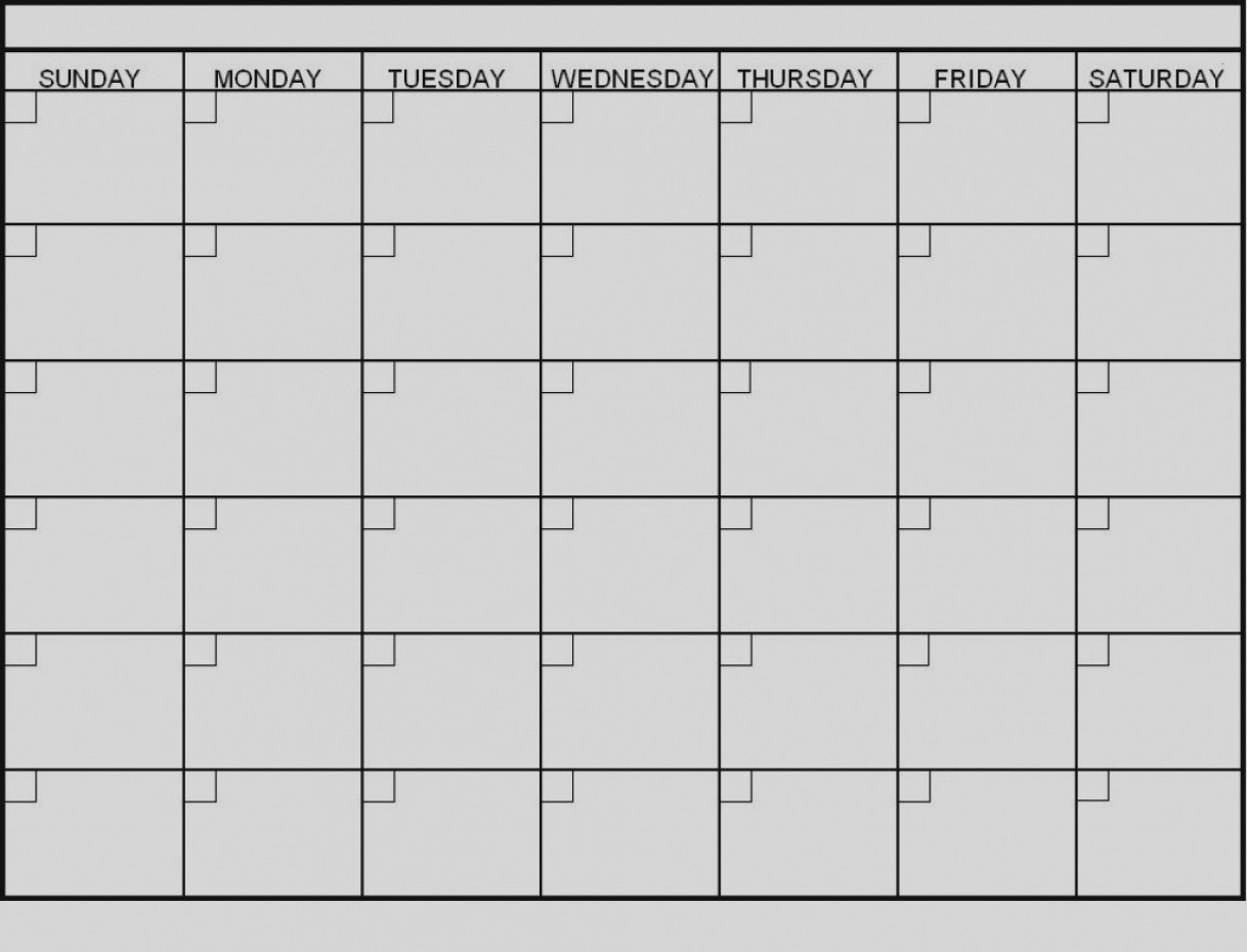 6 Week Blank Calendar Printable | Calendar Template Information