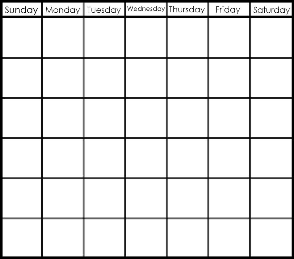 6 Week Printable Blank Calendar | Free Calendar Template Example