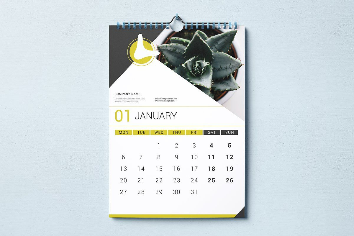 Ad: Wall Calendar 2020Crazyowl On @creativemarket. 2020