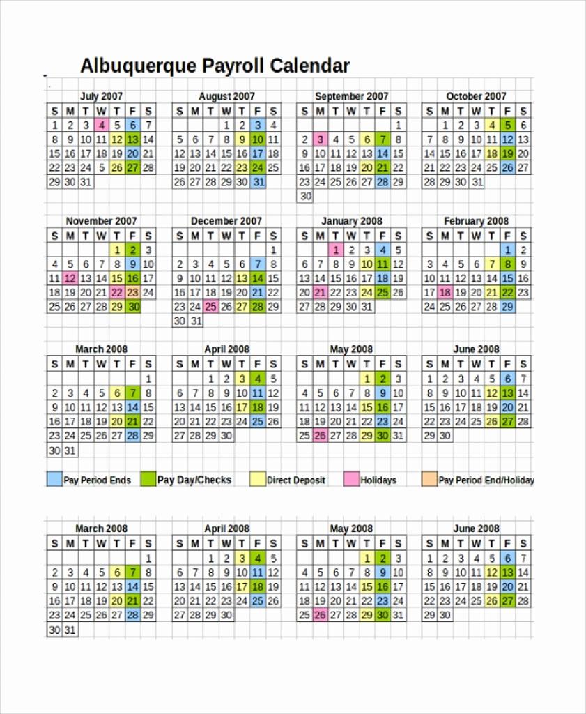 Adp Payroll Calendar 2018 Biweekly Payroll Calendar Template