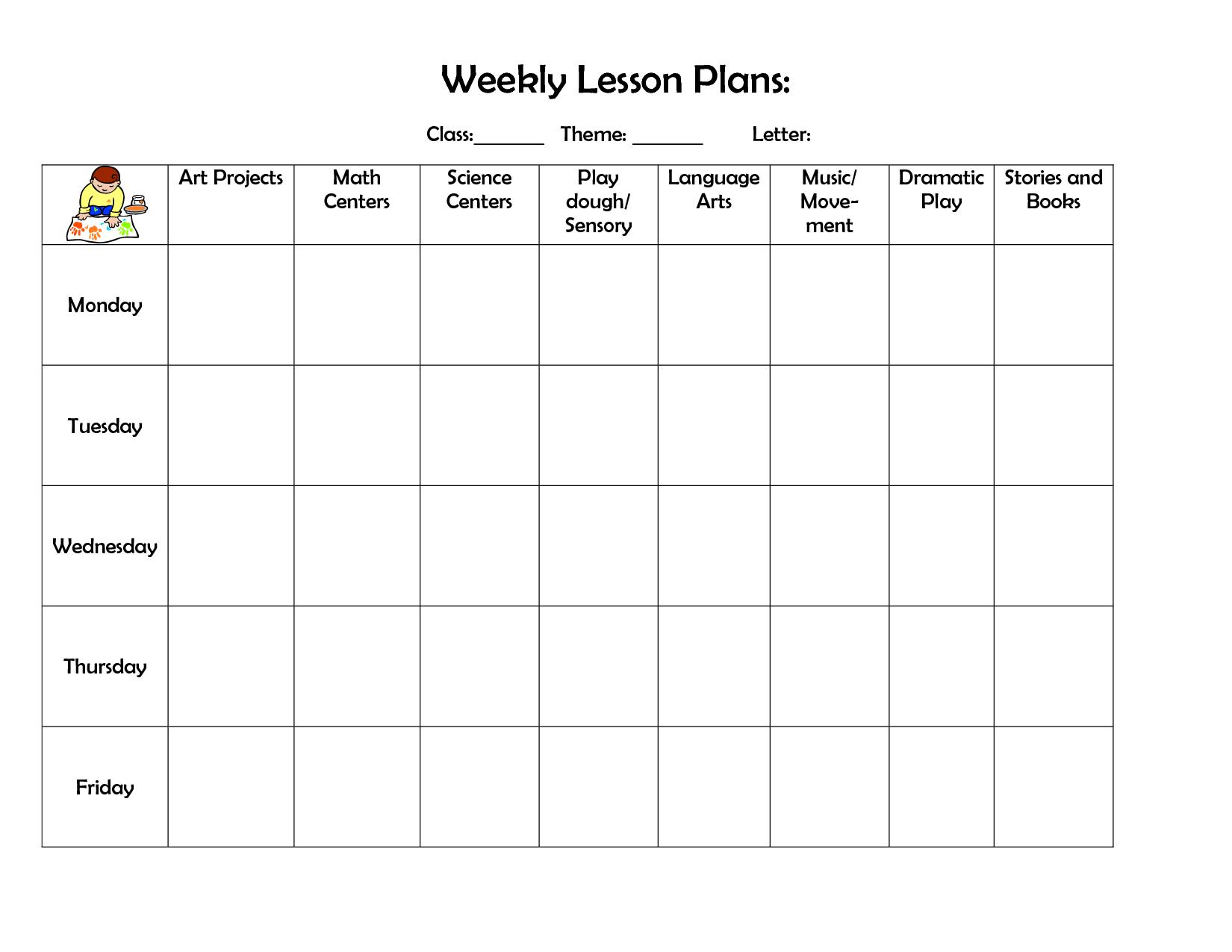 Best 25 Preschool Lesson Plan Template Ideas On Pinterest