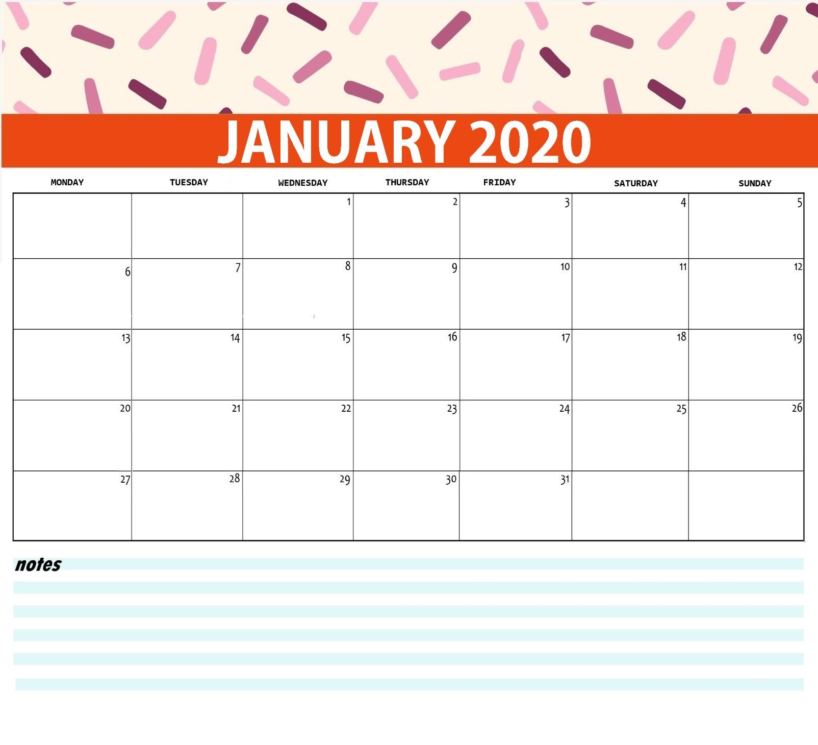 Best Monthly 2020 Calendar | Latest Calendar
