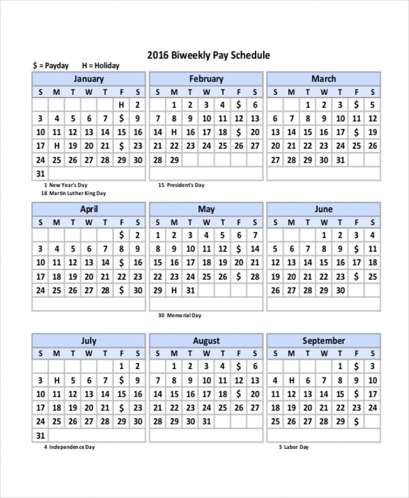 Bi Monthly Payroll Calendar 2018 2018 Calendar Template