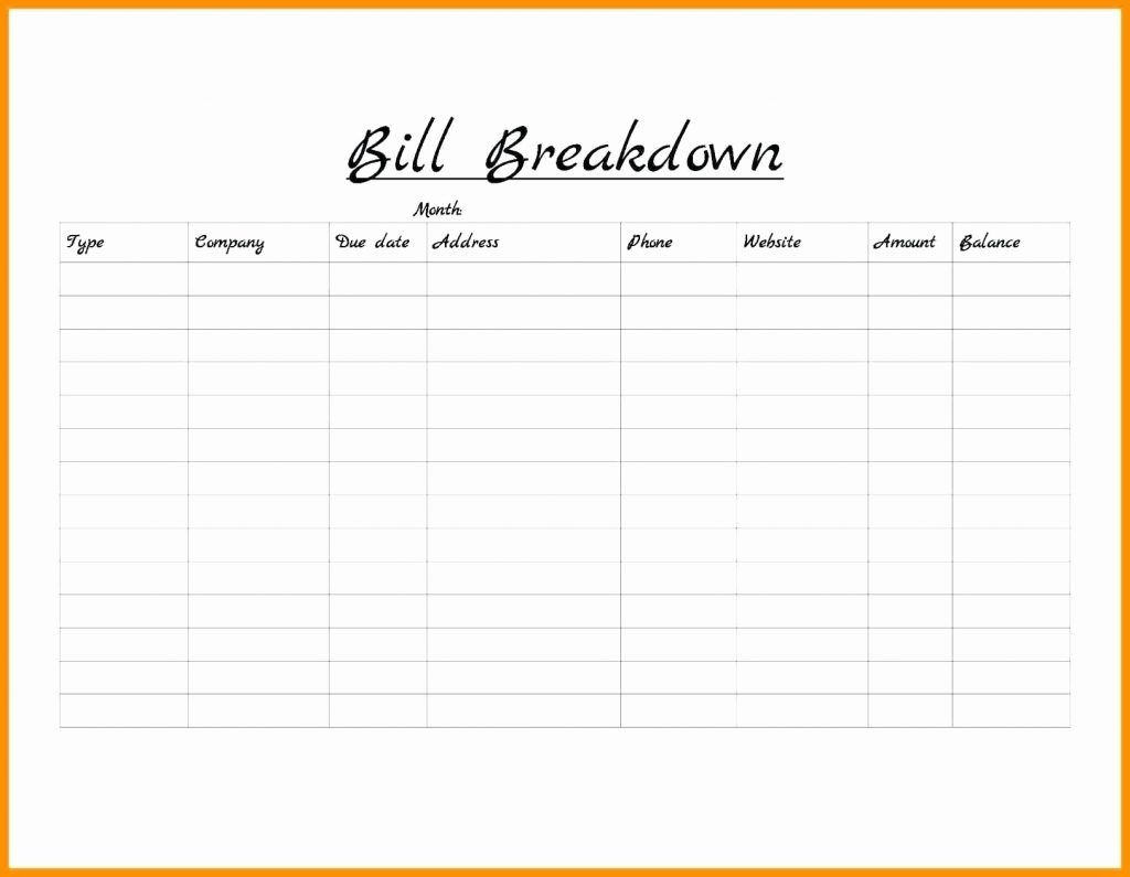 Bills Organizer Template Weekly Bill Organizer Template