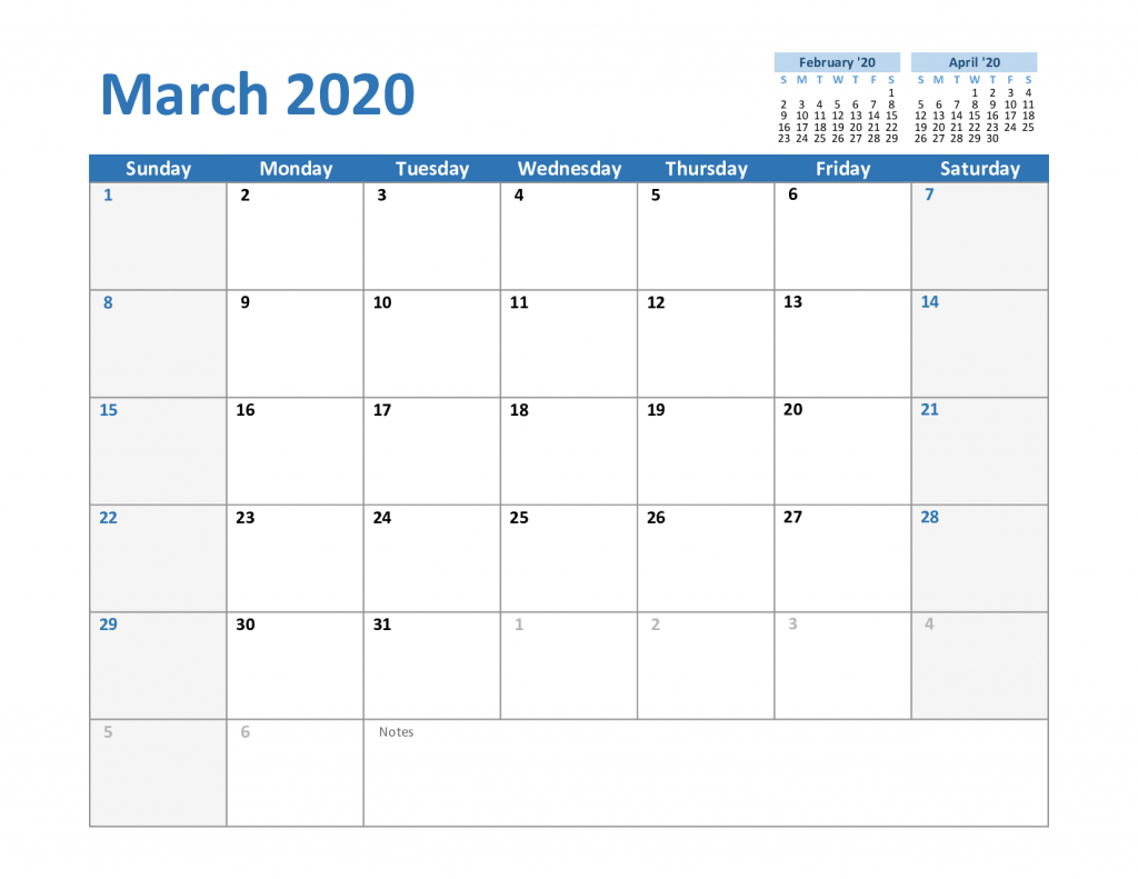 Blank Calendar 2020 17 - Tunu.redmini.co