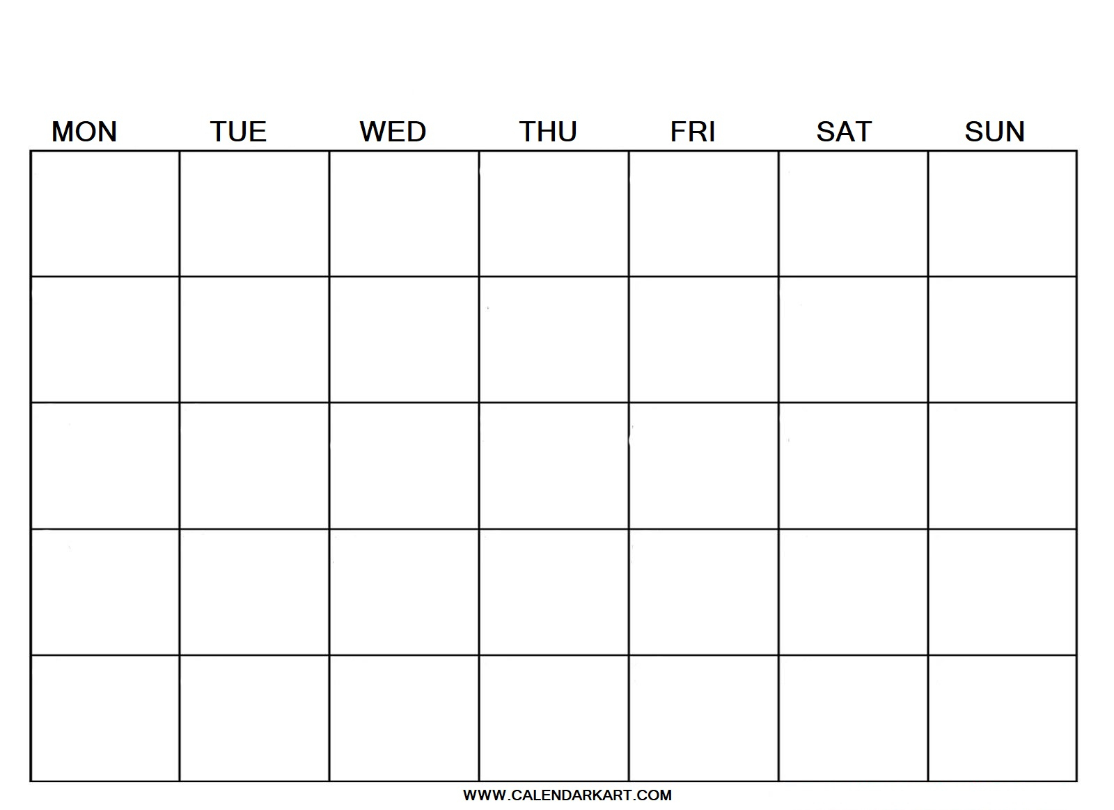 Blank Calendar - Calendar-Kart