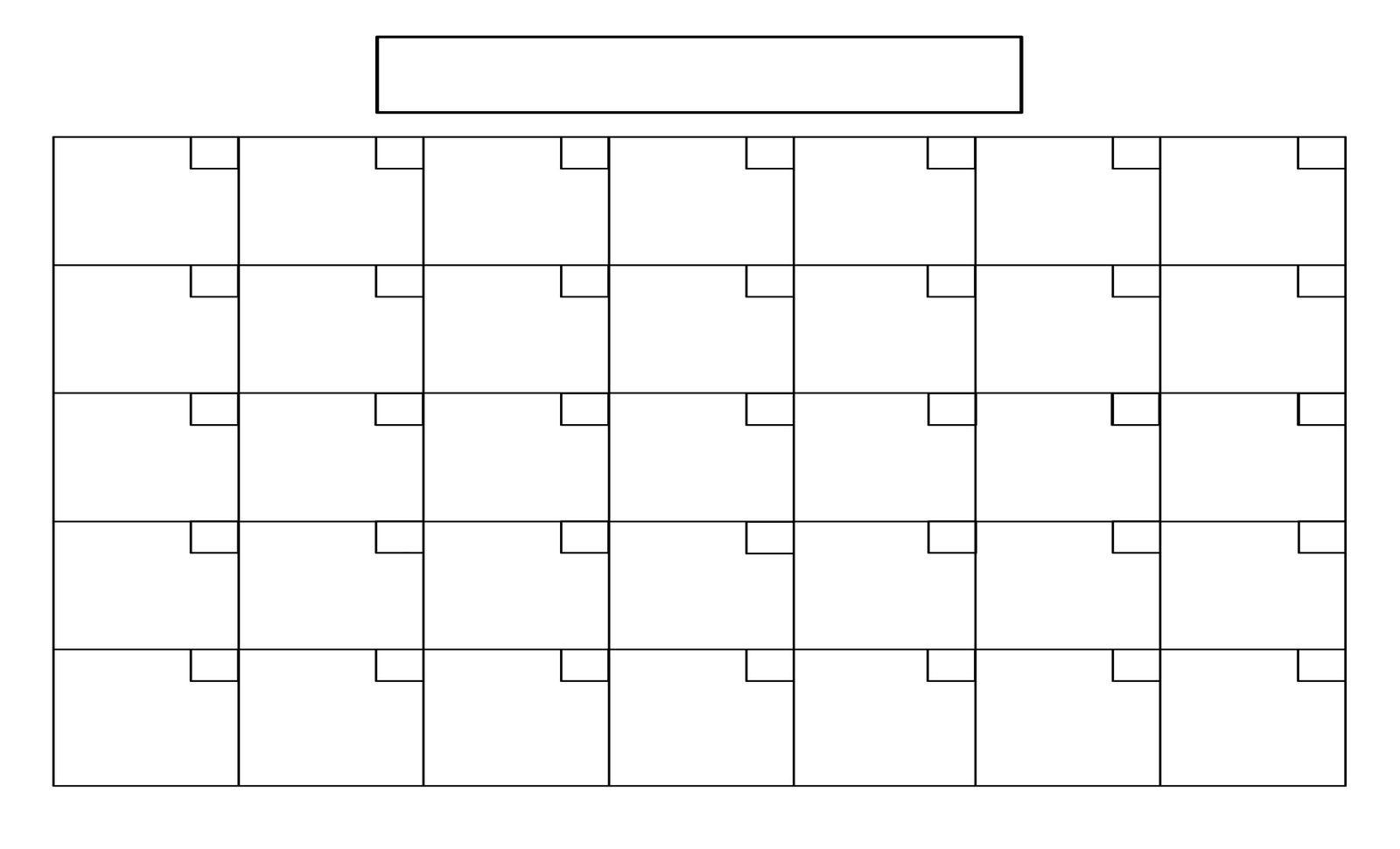 Blank Full Page Calendar - Colona.rsd7