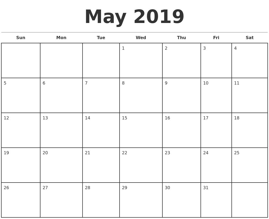 Blank July Monthly Calendar | Online Adventskalender Patchwork