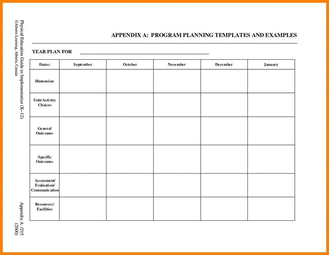 Blank Lesson Plan Template Preschool Doc Uk Word For