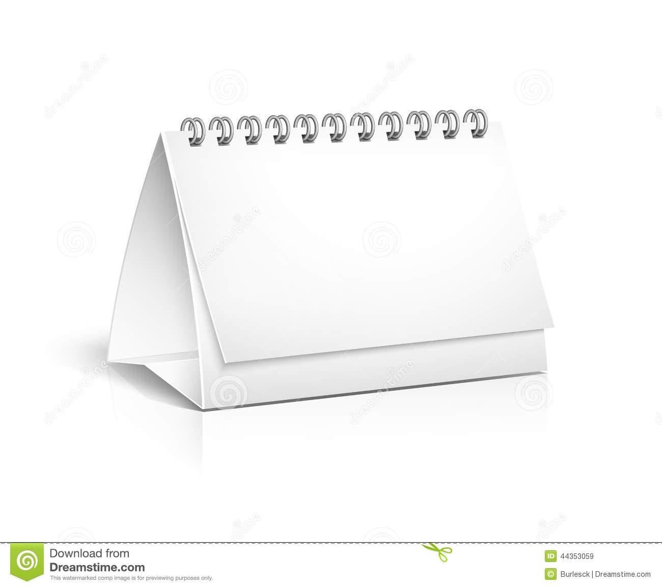 Blank Spiral Desktop Calendar Stock Vector - Illustration Of