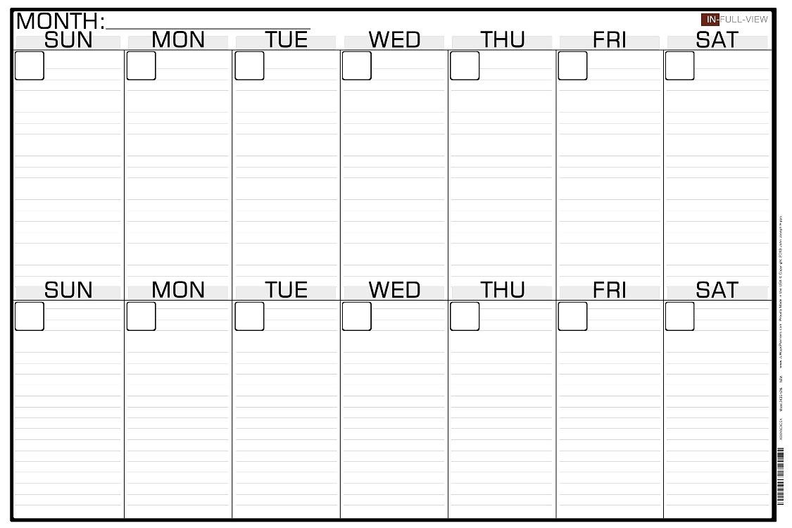 Blank Two Week Calendar Template - Calendar Inspiration Design