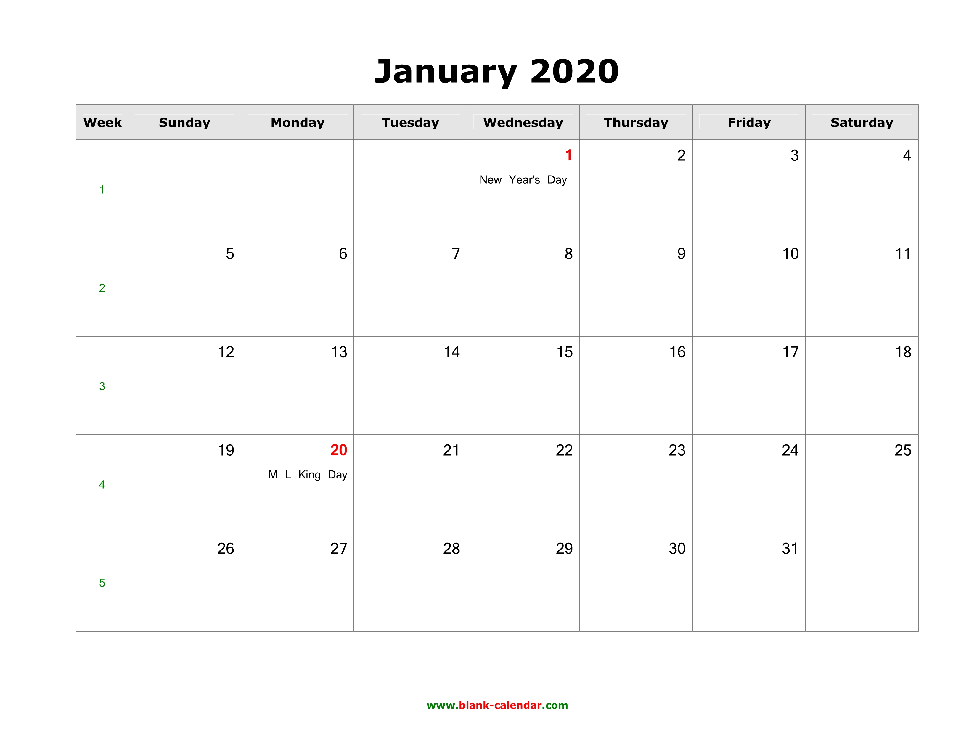 Calendar 2020 For Word - Tunu.redmini.co