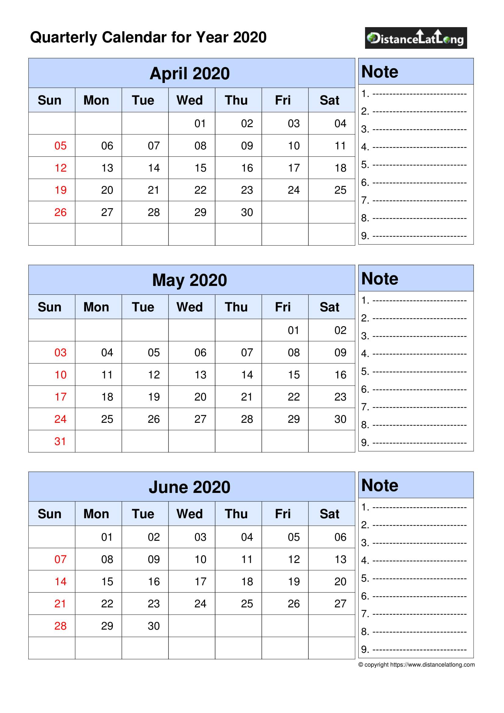 Calendar 2020 Free Template - 2020 Blank Calendar Blank