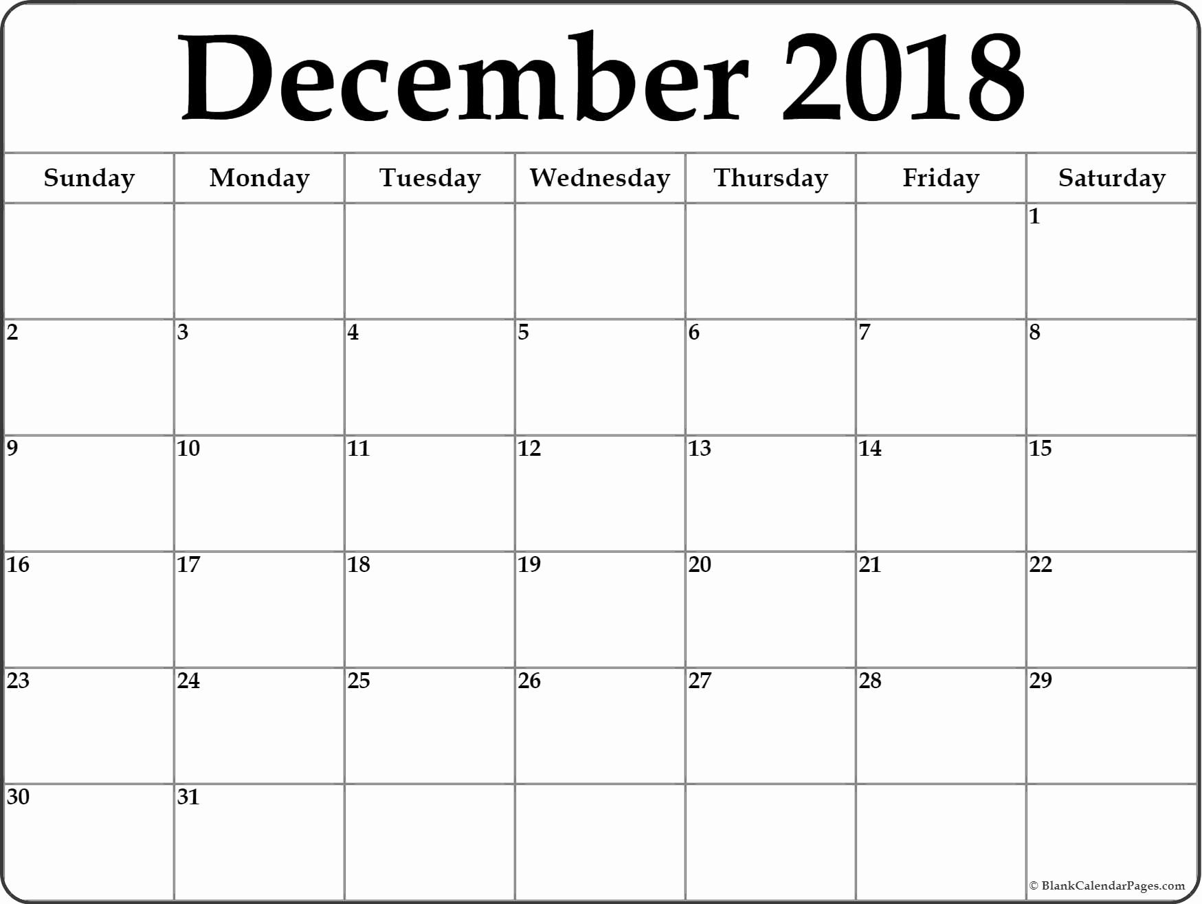 Calendar December 2018 And January 2019 | Blank Calendar