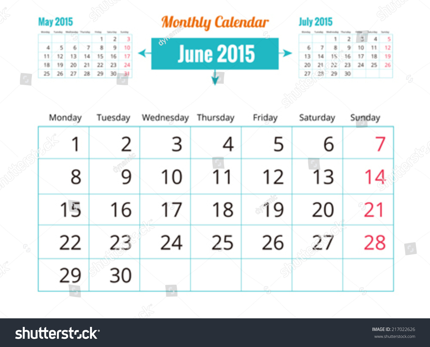 Calendar Schedule Monthly June | Backgrounds/textures