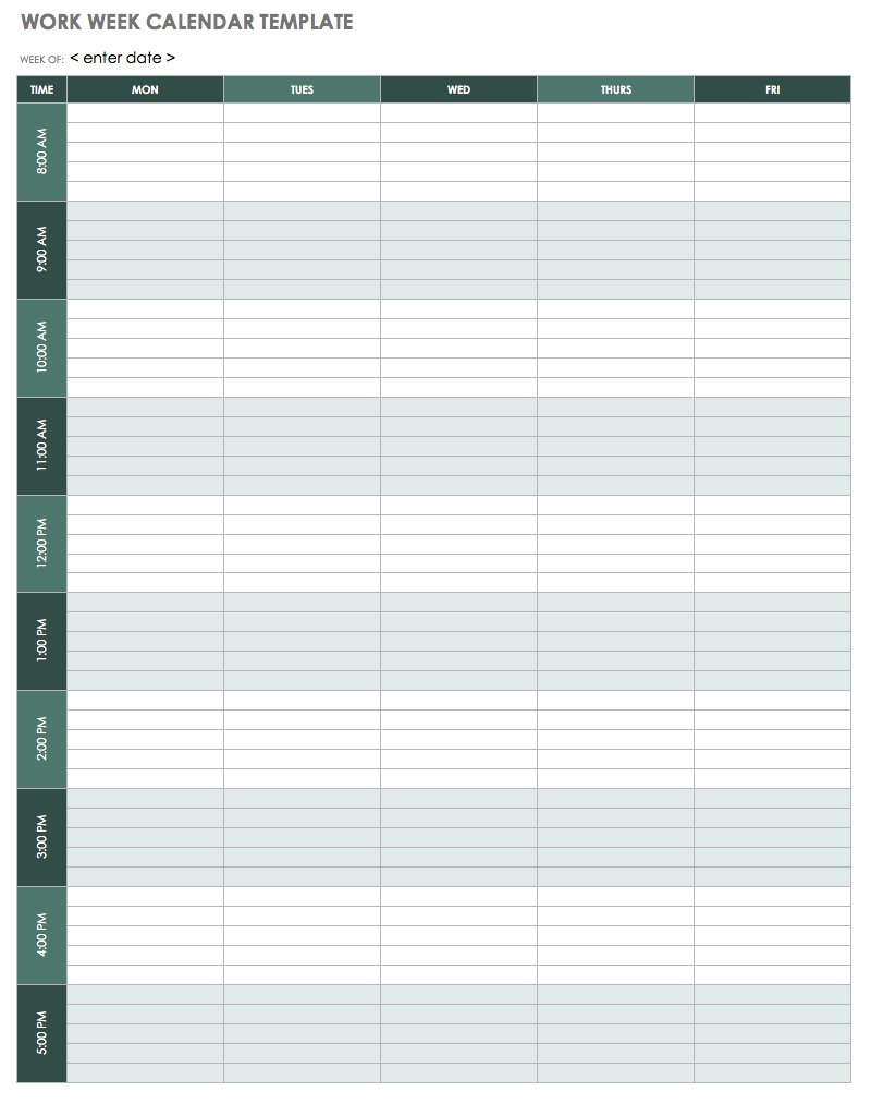 Calendar Template Week - Tunu.redmini.co