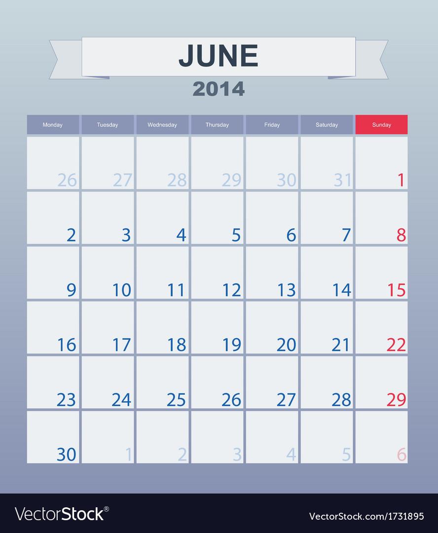 Calendar To Schedule Monthly June 2014