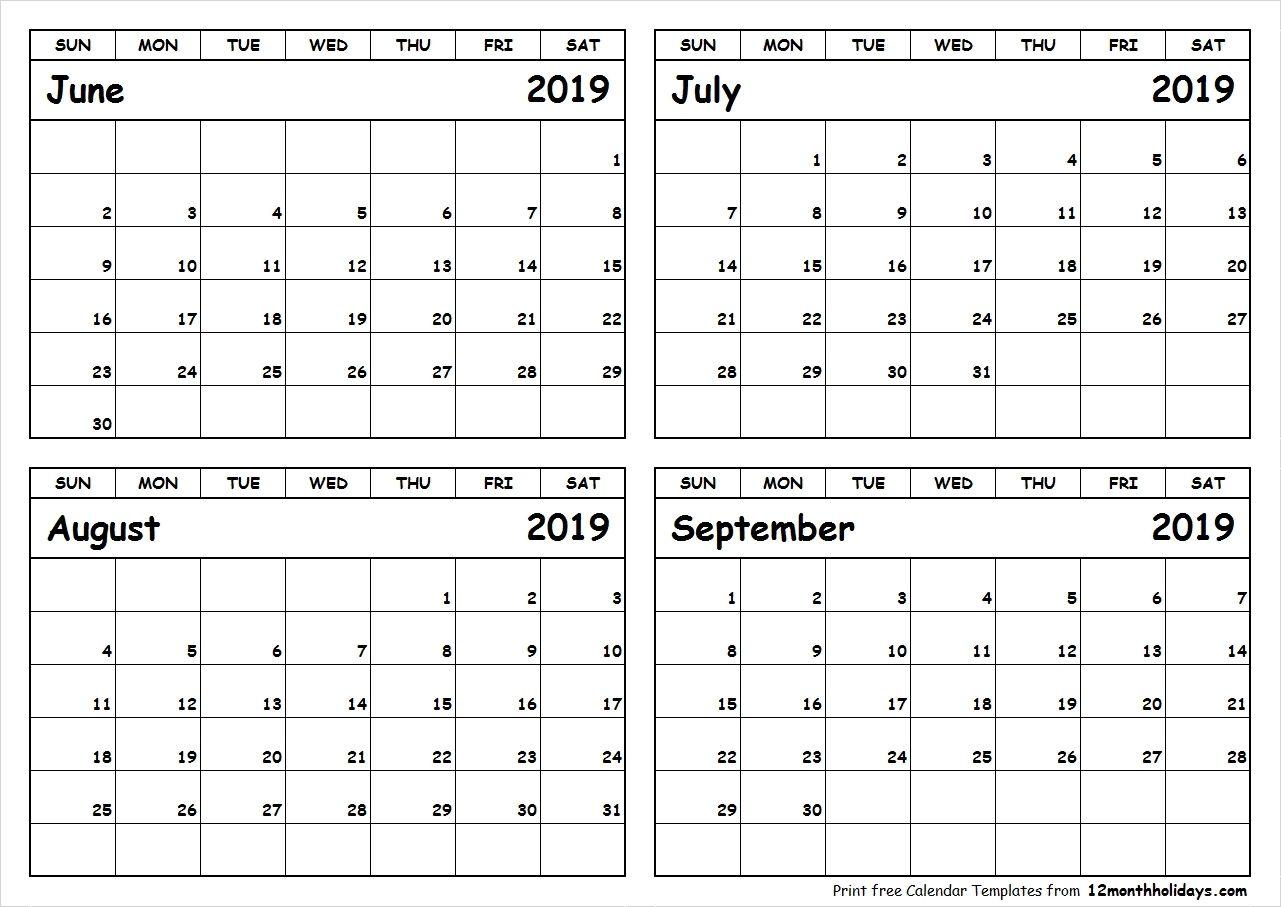Calender 2019 Juli August September | Calendar 2019 Template
