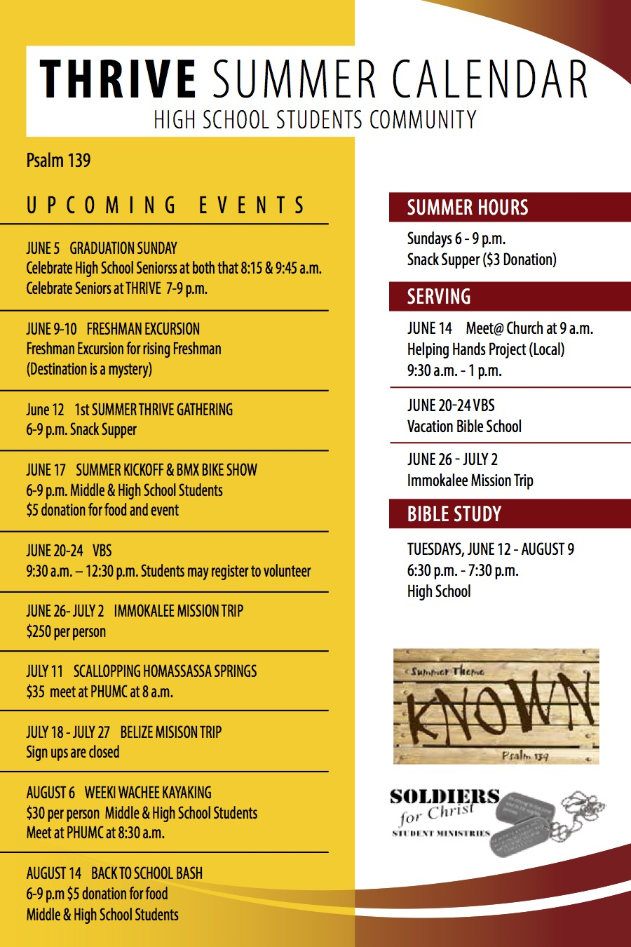 Church-Summer-Camp-Calendar-Sample - Wilson Printing Usa