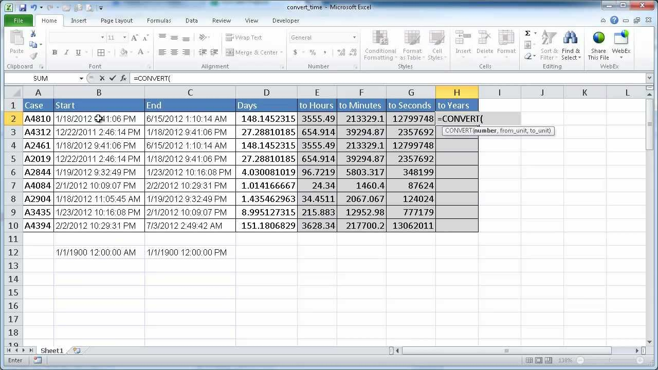 Convert Time In Excel (Days To Hours, Hours To Minutes, Etc)