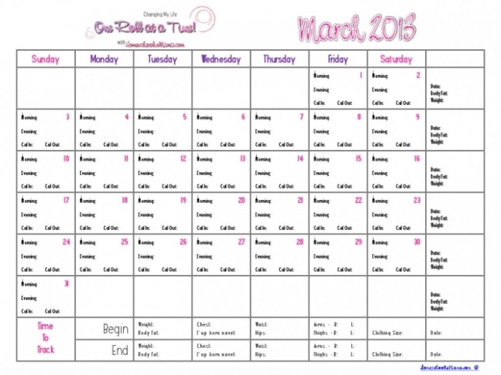 Countdown Calendar For Weight Loss | Calendar Template