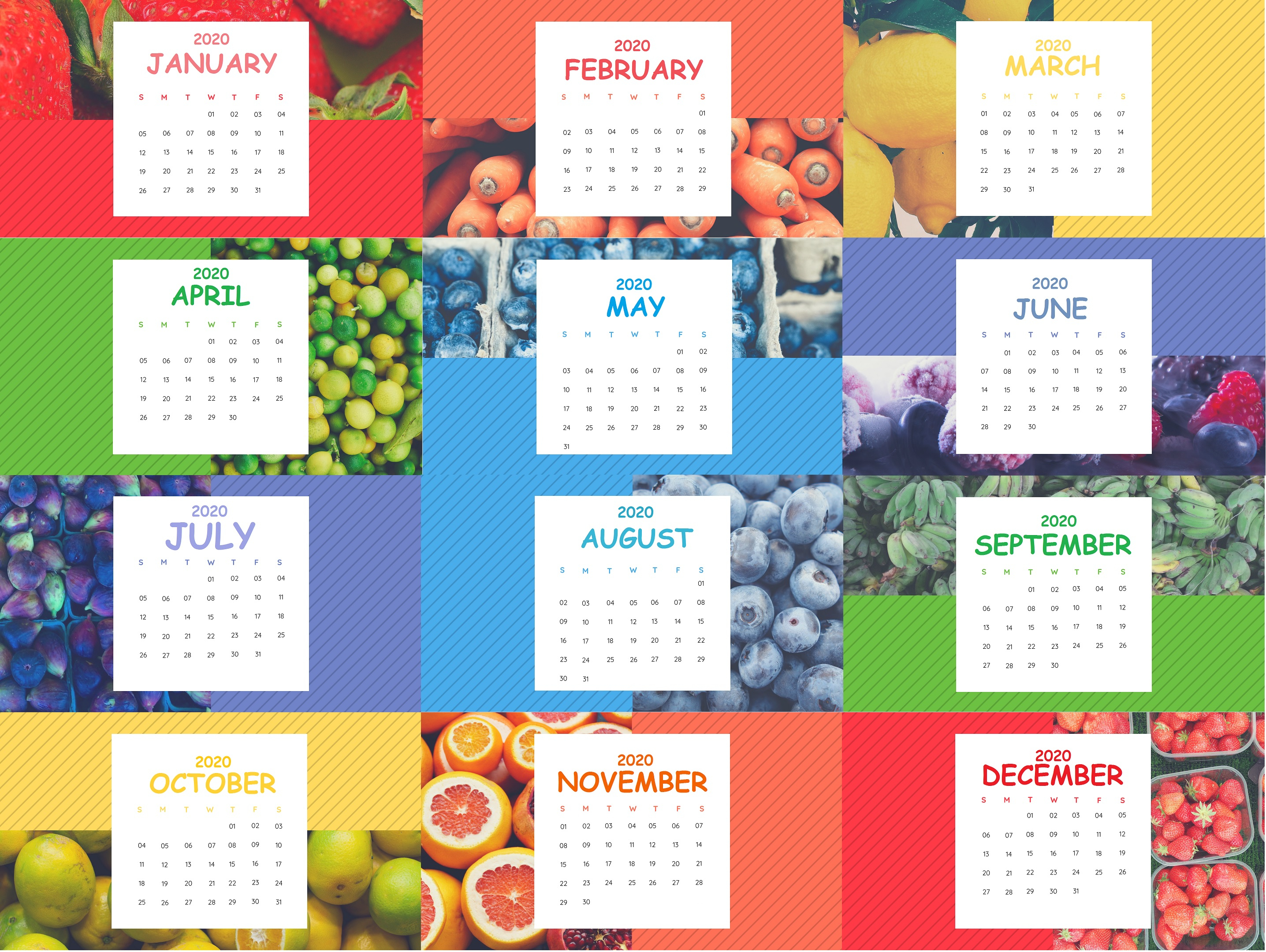 Cute 2020 Calendar Printable | Latest Calendar