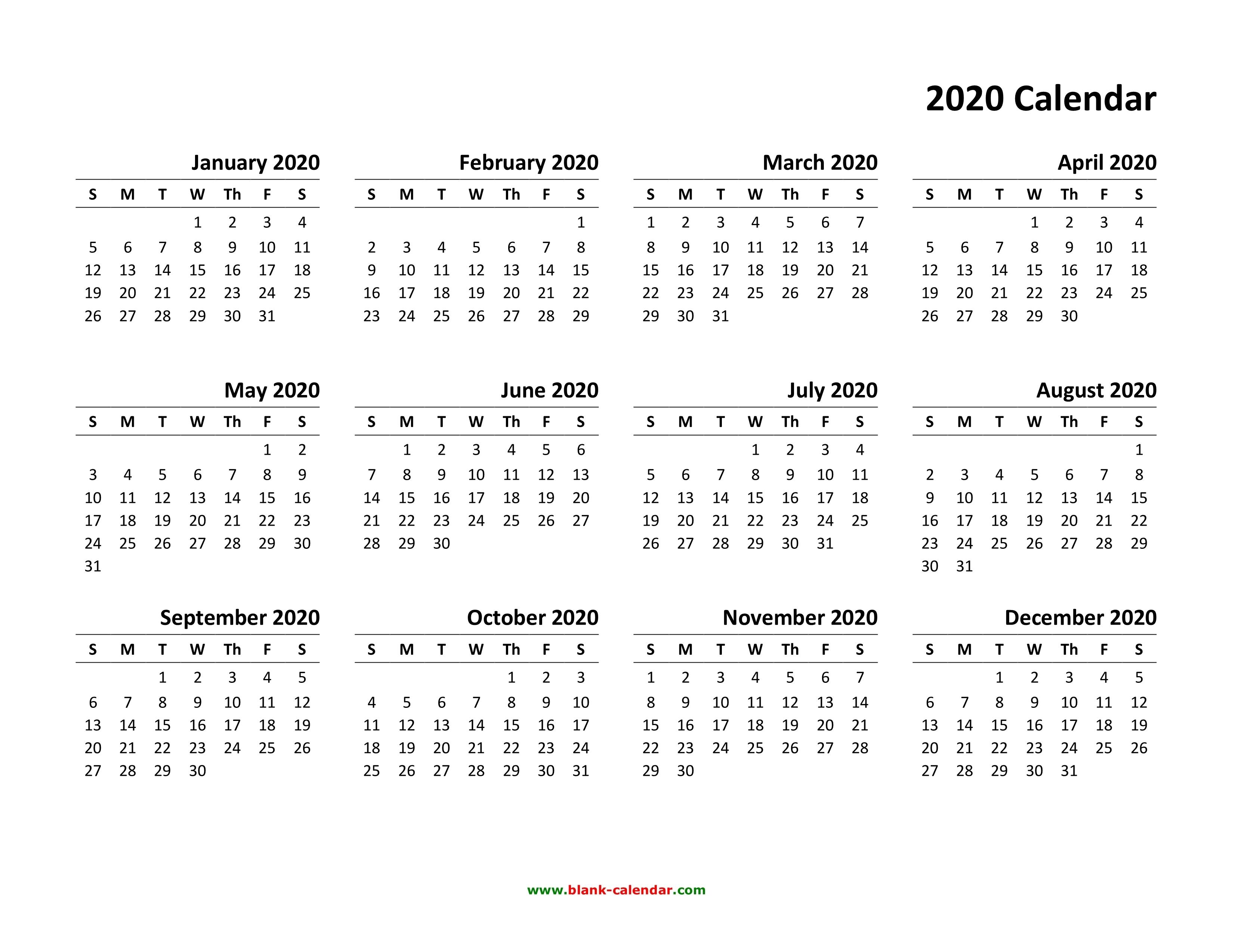 Календарь 2020 Года - Bagno.site