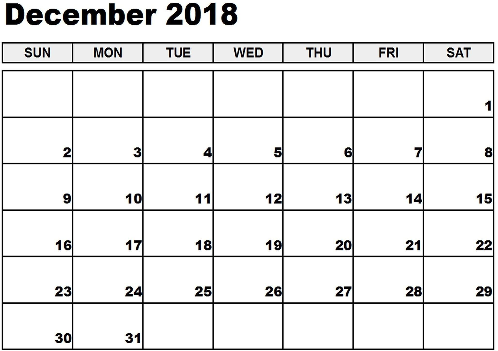 December 2018 Calendar Canada #canadacalendar