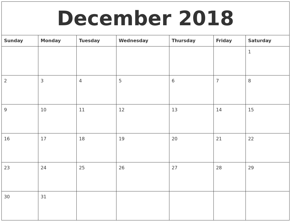 December 2018 Calendar With Holidays Canada | November