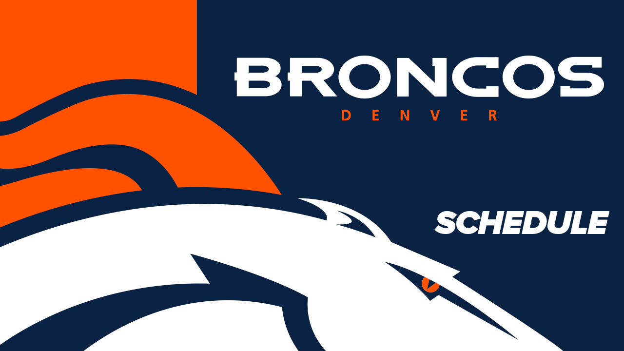 Denver Broncos Schedule   Denver Broncos – Denverbroncos