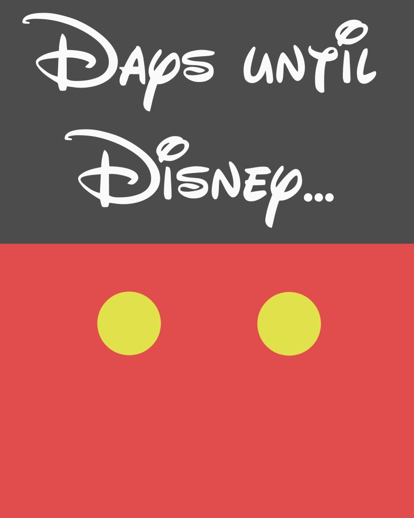 Disney Countdown Dry-Erase Board With Printable - My Sweet