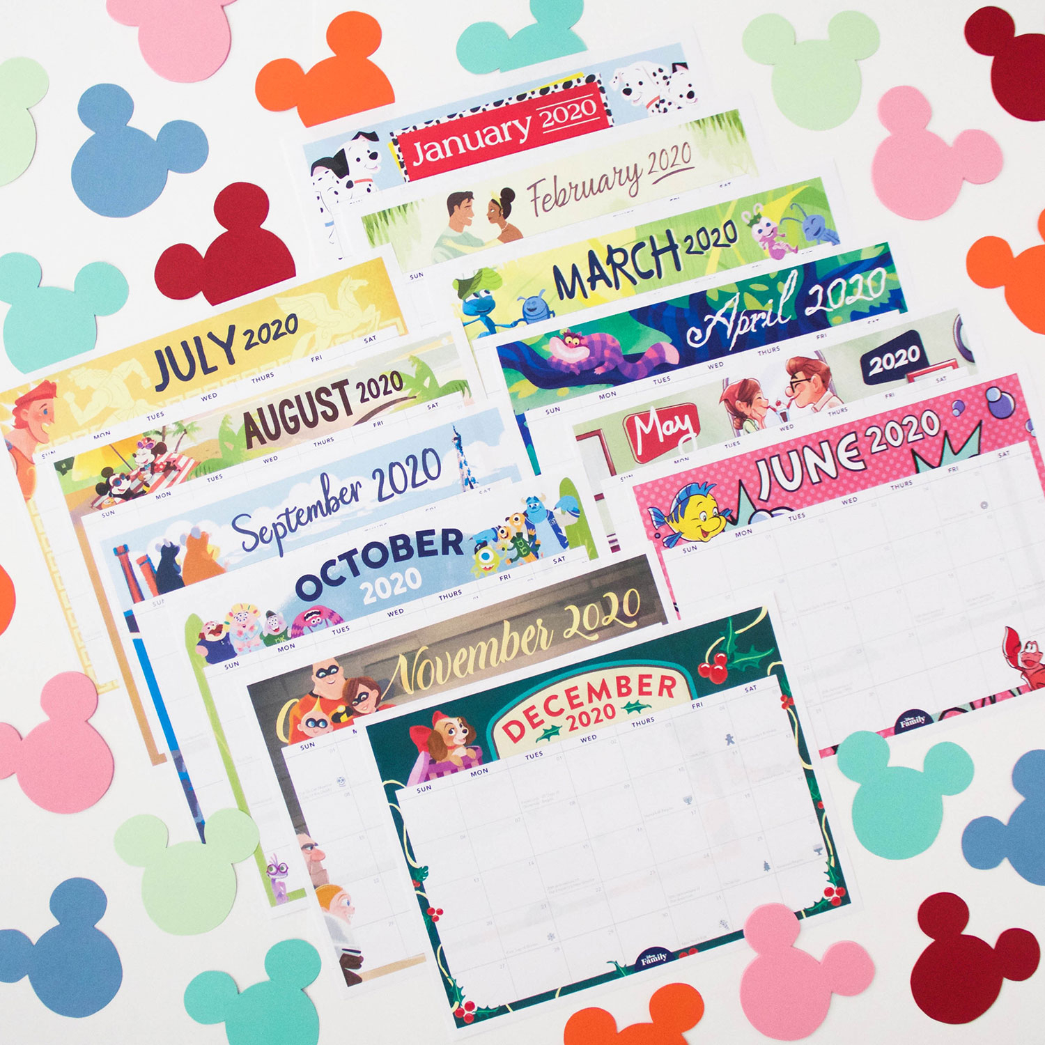 Disney Family Printable 2020 Calendar | Disney Family