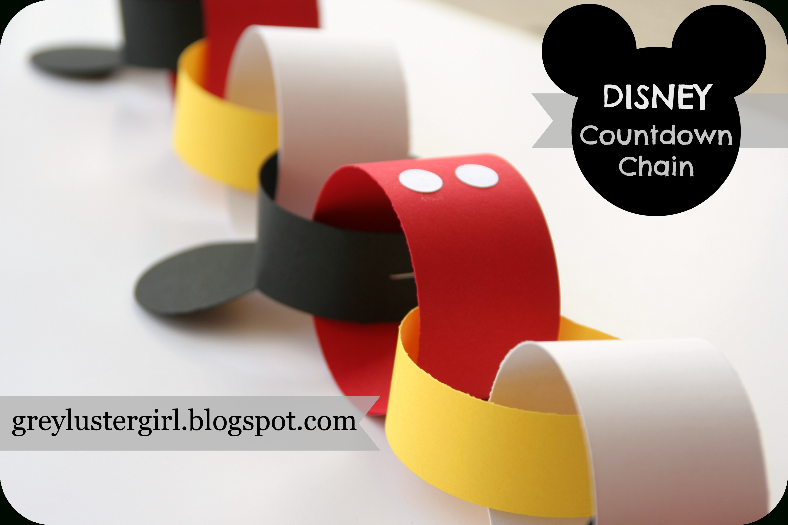 Disney Mickey Mouse Countdown Chain Tutorial -