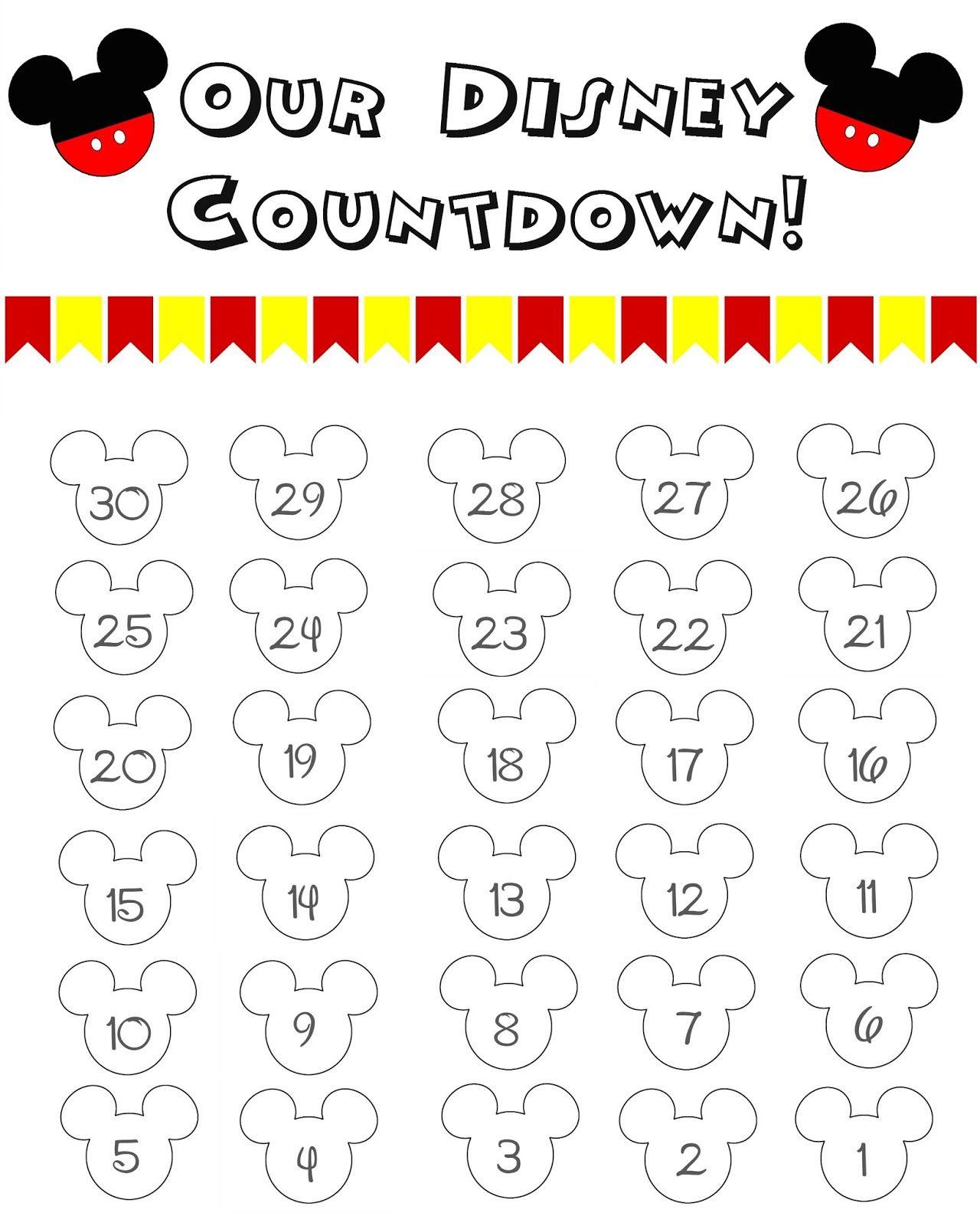 Disney World Countdown Calendar - Free Printable | Disney