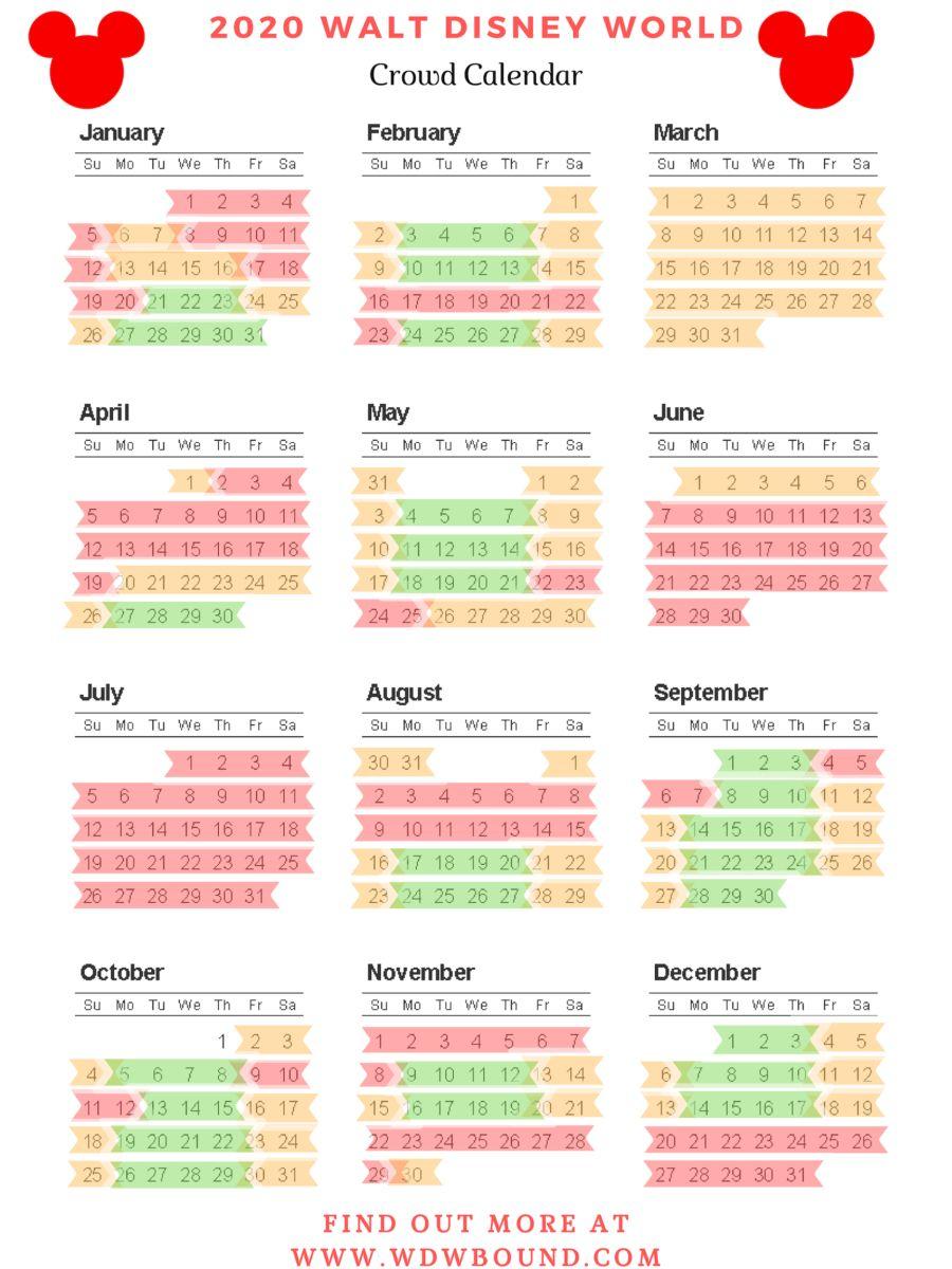 Disney World Itinerary Printable 2020 Example Calendar