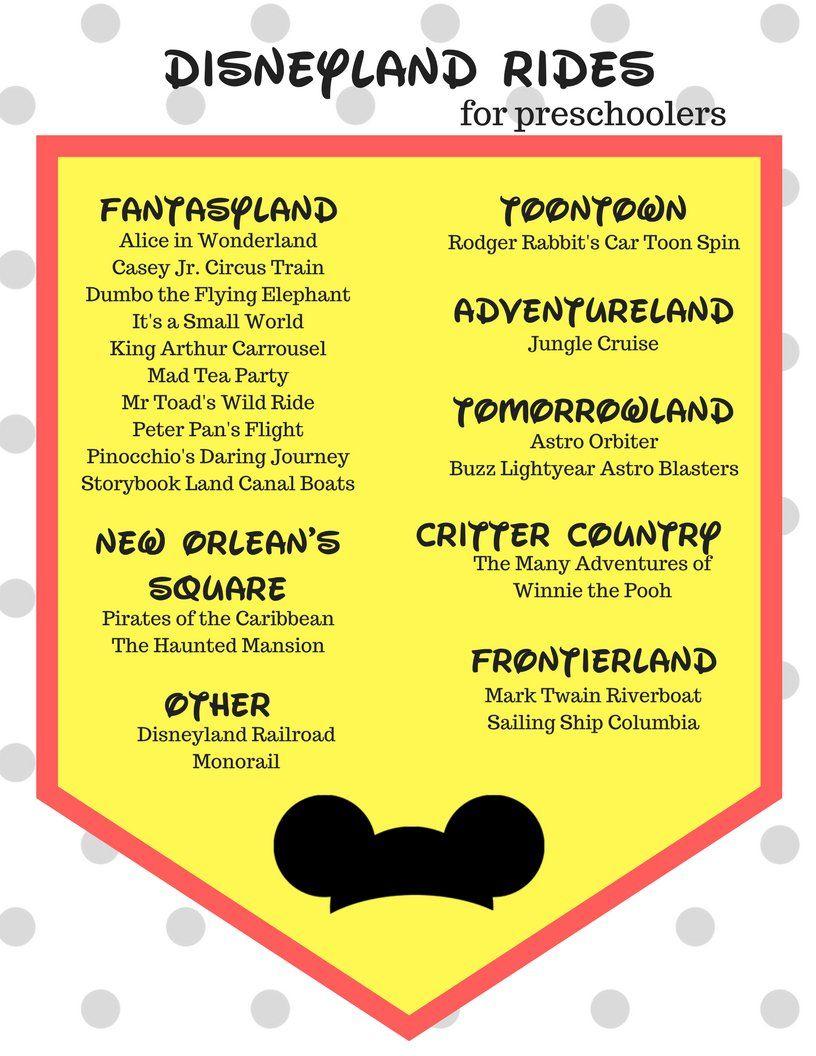 Disneyland Rides For Preschoolers | Local Favs: Los Angeles