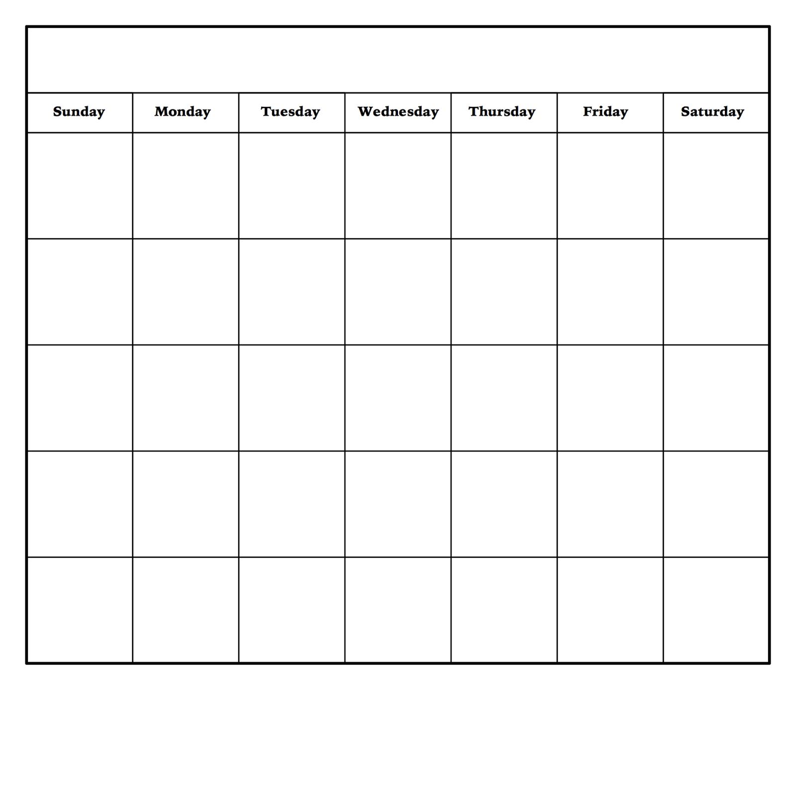 Diy Dry Erase Calendar | Blank Monthly Calendar Template